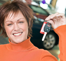 image of lady with car keys