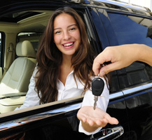 image of teen girl getting car keys